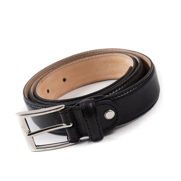 Isaia Black Calf Leather Belt
