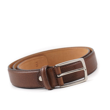 Isaia Brown Grained Calf Leather Belt - Top Shelf Apparel