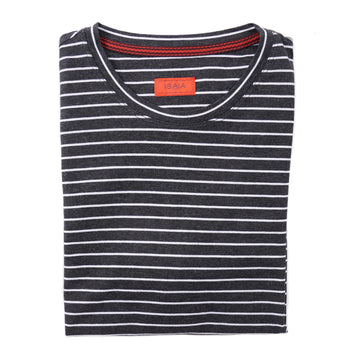 Isaia Slim-Fit Striped Cotton T-Shirt - Top Shelf Apparel