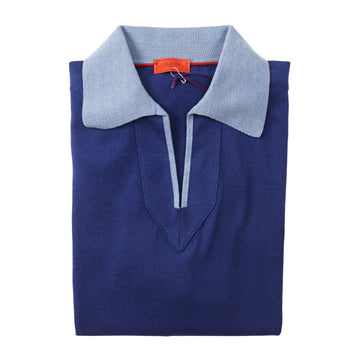 Isaia Knit Silk and Cotton Polo Shirt - Top Shelf Apparel