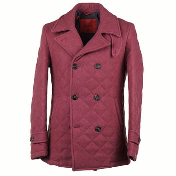 Isaia Quilted Wool and Silk Pea Coat - Top Shelf Apparel