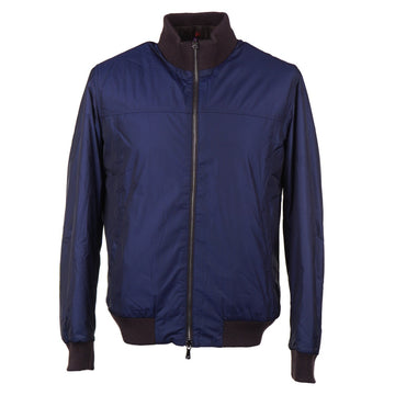 Isaia Reversible 'Extralight Aqua' Bomber Jacket - Top Shelf Apparel