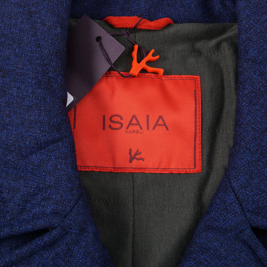 Isaia Quilted Storm System Wool Pea Coat - Top Shelf Apparel