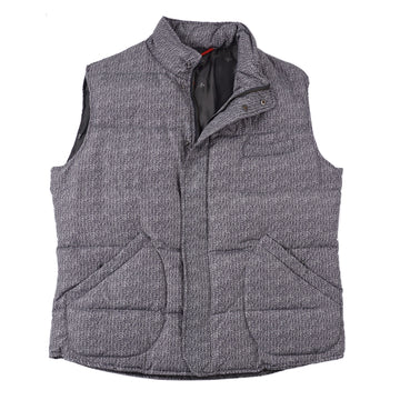 Isaia Cable Printed Quilted Puffer Vest
