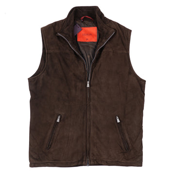 Isaia Soft Suede 'Aqua Leather' Vest - Top Shelf Apparel