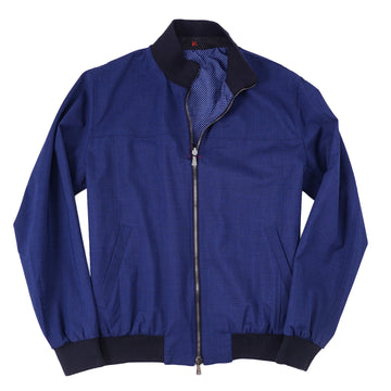 Isaia Reversible Wool Bomber Jacket - Top Shelf Apparel