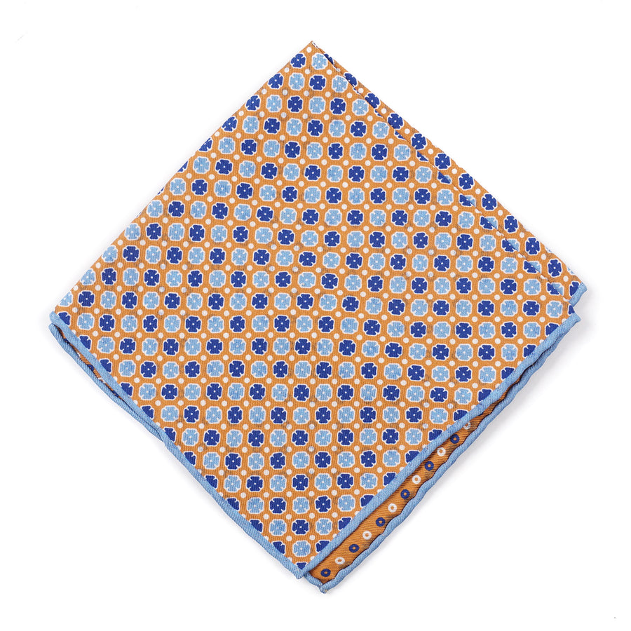 Isaia Reversible Print Silk Pocket Square - Top Shelf Apparel