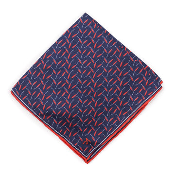 Isaia Printed Silk Pocket Square - Top Shelf Apparel
