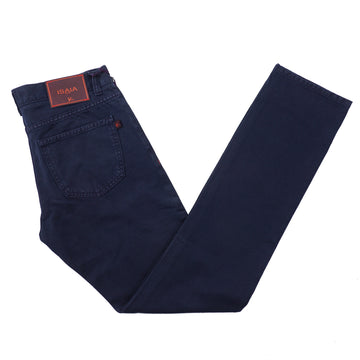 Isaia Slim Navy Blue Selvedge Denim Jeans - Top Shelf Apparel