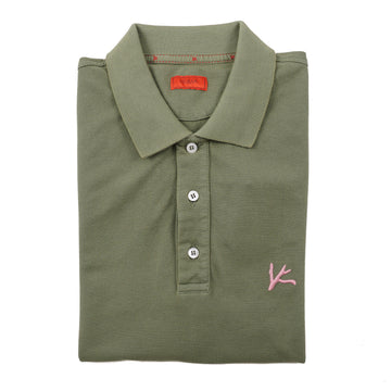 Isaia Slim-Fit Polo Shirt with Coral Accent - Top Shelf Apparel