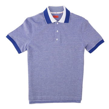 Isaia Slim-Fit Pique Cotton Polo Shirt - Top Shelf Apparel