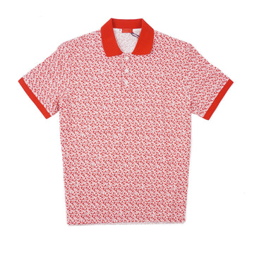 Isaia Coral Print Pique Cotton Polo Shirt - Top Shelf Apparel