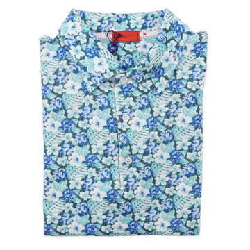 Isaia Floral Print Pique Cotton Polo Shirt - Top Shelf Apparel