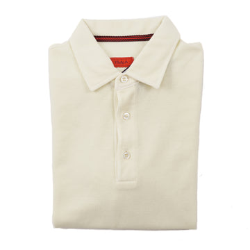Isaia Solid Pique Cotton Polo Shirt - Top Shelf Apparel