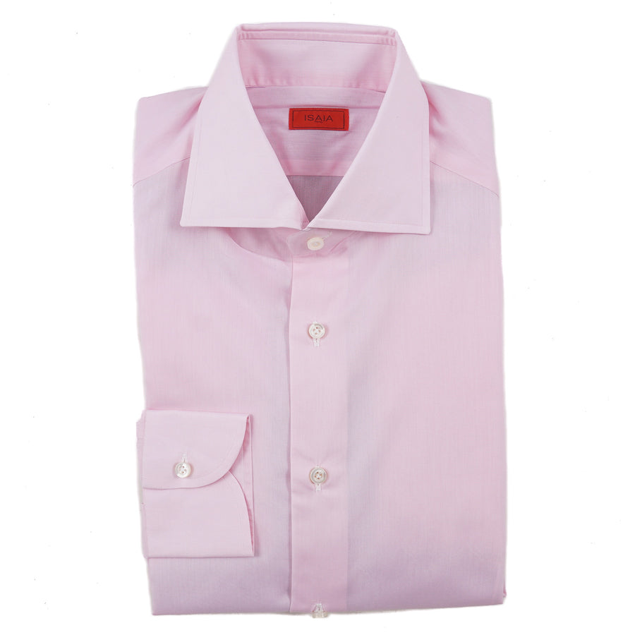 Isaia Modern 'Mix Fit' Pink Cotton Dress Shirt - Top Shelf Apparel