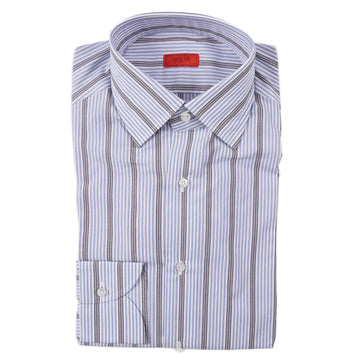 Isaia Modern 'Mix Fit' Striped Cotton Dress Shirt - Top Shelf Apparel