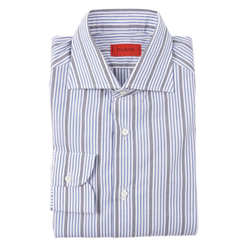 Isaia 'Italia Fit' Striped Cotton Dress Shirt - Top Shelf Apparel