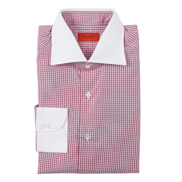 Isaia 'Italia Fit' Contrast Collar Dress Shirt - Top Shelf Apparel
