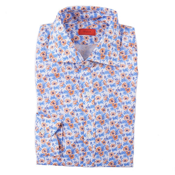 Isaia Slim-Fit Floral Print Linen Shirt - Top Shelf Apparel