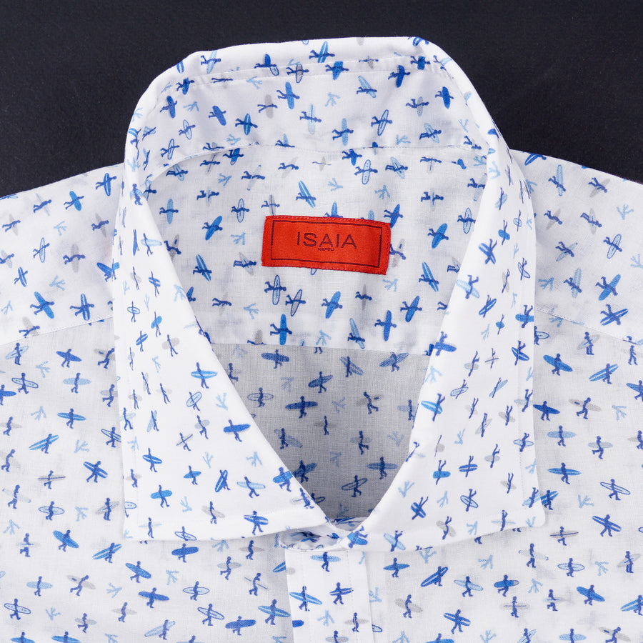 Isaia Slim-Fit Lightweight Printed Cotton Shirt - Top Shelf Apparel