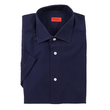 Isaia Short Sleeve Lightweight Cotton Shirt - Top Shelf Apparel