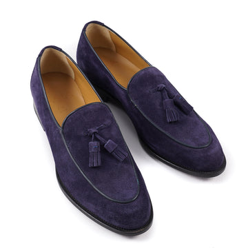 Isaia Midnight Purple Suede Tassel Loafer - Top Shelf Apparel