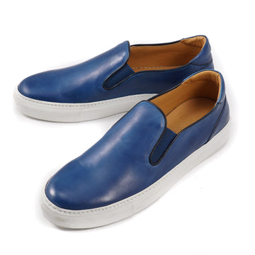 Isaia Slip-On Calf Leather Sneakers - Top Shelf Apparel
