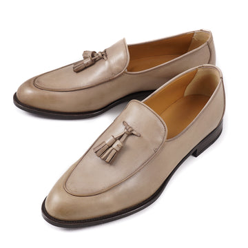 Isaia Calf Leather Tassel Loafer