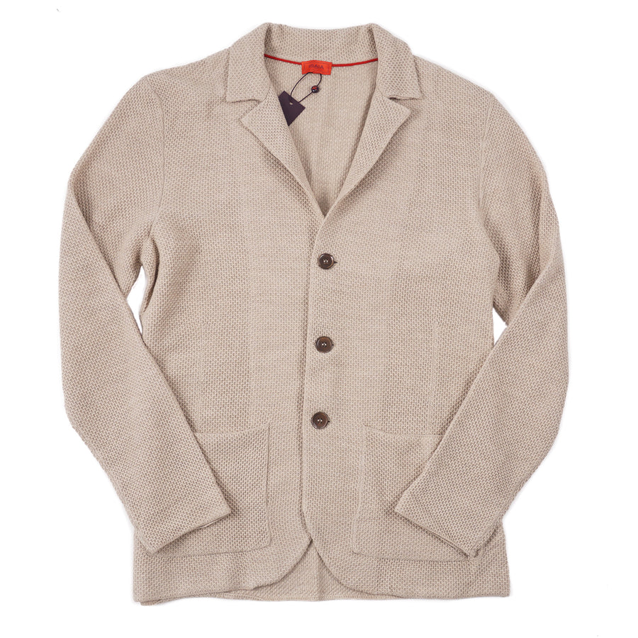 Isaia Merino Wool Cardigan Sweater-Blazer - Top Shelf Apparel