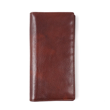 Isaia Continental Travel Wallet in Vintage Brown
