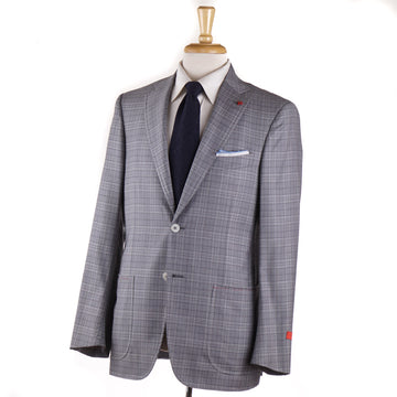 Isaia Light Gray Check Super 140s Wool Suit - Top Shelf Apparel