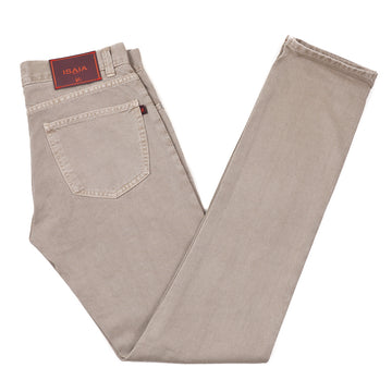 Isaia Light Brown Selvedge Denim Jeans