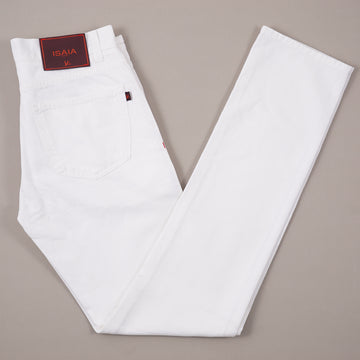 Isaia White Selvedge Denim Jeans