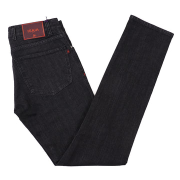Isaia Rinsed Black Stretch Denim Jeans