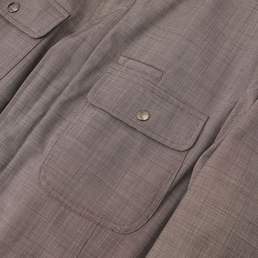 Isaia Weather-Repellent Field Jacket in Light Brown