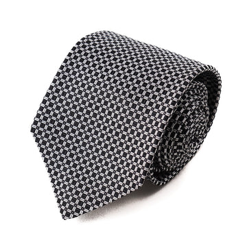Isaia 7-Fold Woven Design Silk Tie - Top Shelf Apparel