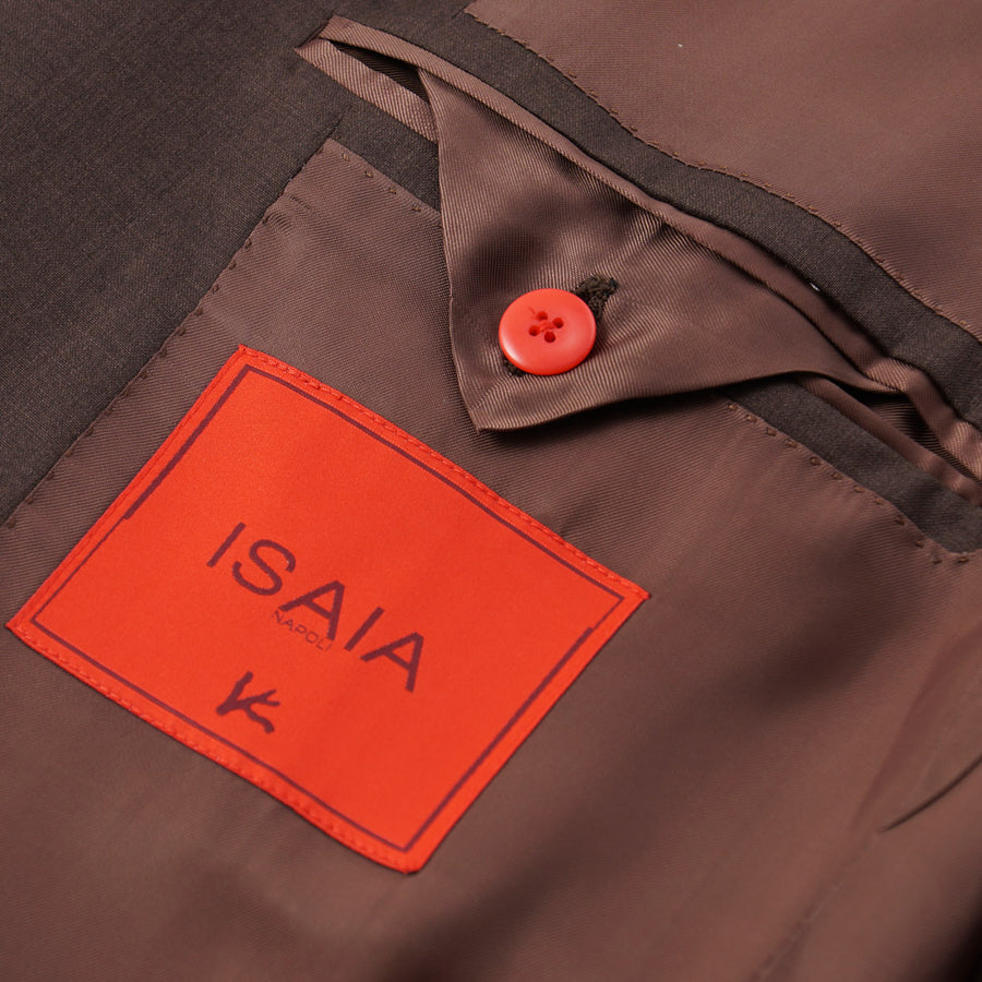Isaia Chocolate Brown 130s Wool Sport Coat - Top Shelf Apparel