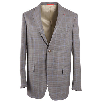 Isaia Layered Check Wool Sport Coat