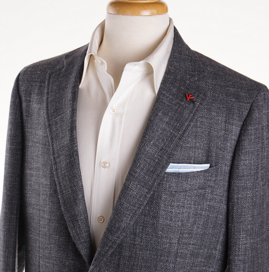 Isaia Woven Gray 'Domenico' Sport Coat - Top Shelf Apparel