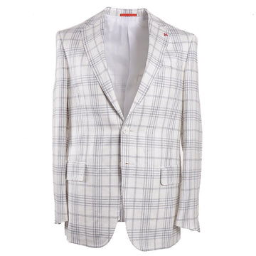 Isaia Lightweight Silk-Linen-Wool Sport Coat