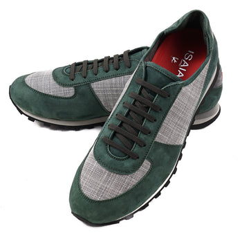 Isaia Calf Suede and Cashmere Sneakers - Top Shelf Apparel