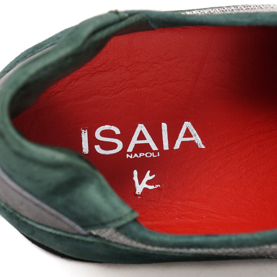 Isaia Calf Suede and Cashmere Sneakers