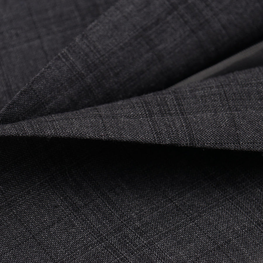 Isaia Slim-Fit Gray Check Wool Suit