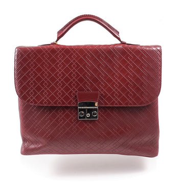 Canali Printed Leather Briefcase