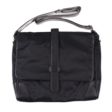 Canali Nylon and Leather Shoulder Bag