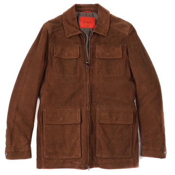 Isaia 'Aqua Leather' Suede Field Jacket - Top Shelf Apparel