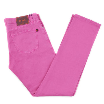 Isaia Fuchsia Pink Selvedge Denim Jeans - Top Shelf Apparel