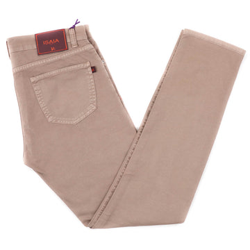 Isaia Light Brown Selvedge Denim Jeans - Top Shelf Apparel