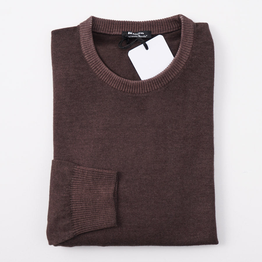 Kiton Chocolate Brown Cashmere Nuvola Sweater