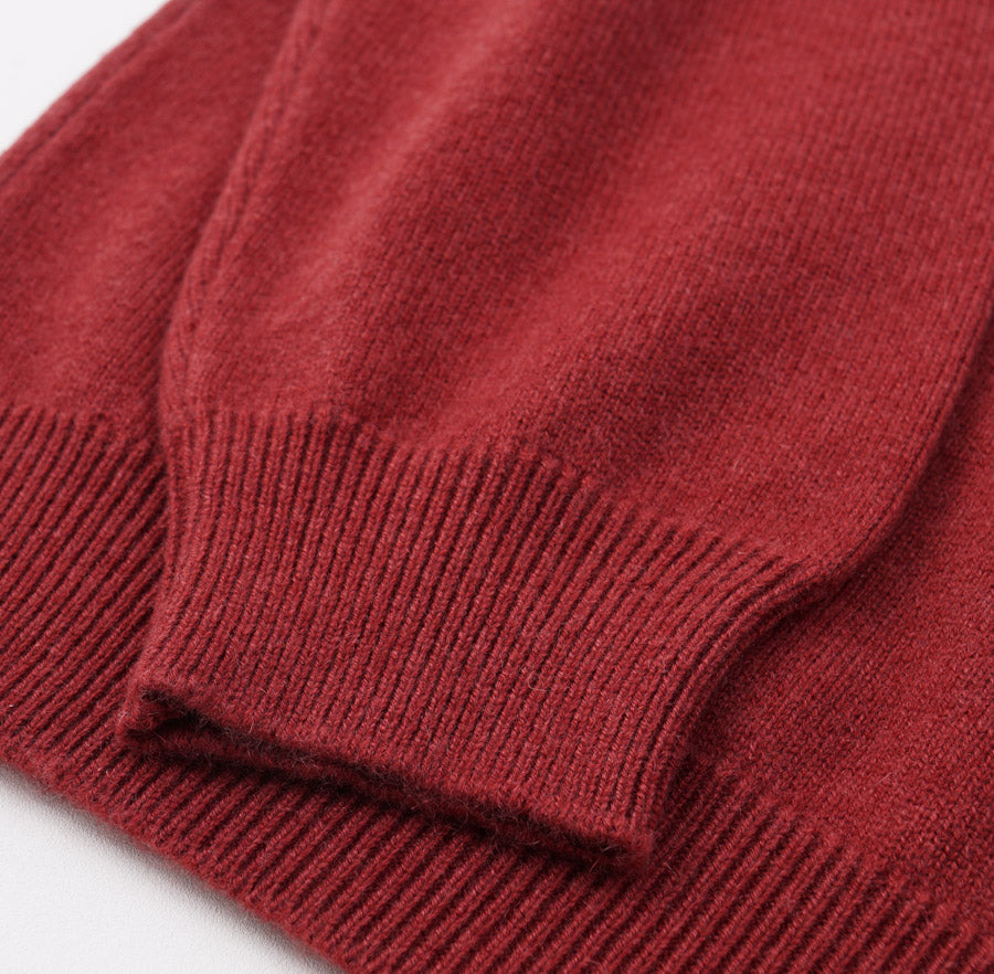 Kiton Brick Red Regal Cashmere Sweater